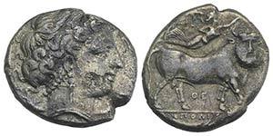 Southern Campania, Neapolis, c. 300 BC. AR ...