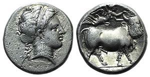 Southern Campania, Neapolis, 300-275 BC. AR ...