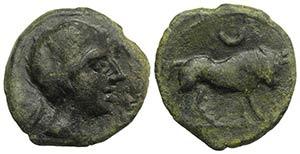 Iberia, Castulo, late 2nd century BC. Æ ...