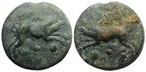 Anonymous, Rome, c. 270 BC. Cast Æ Quadrans ...