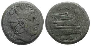 Anonymous, Rome, 217-215 BC. Æ Sextans ...