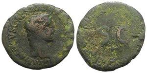 Germanicus (died AD 19). Æ As (29mm, 9.96g, ...