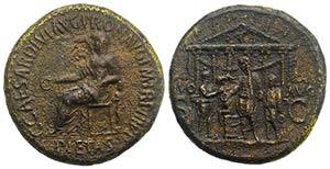 Gaius (Caligula, 37-41). Æ Sestertius ...
