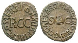 Gaius (Caligula, 37-41). Æ Quadrans (16mm, ...