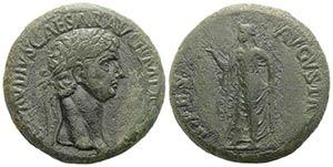 Claudius (41-54). Æ Sestertius (33.5mm, ...