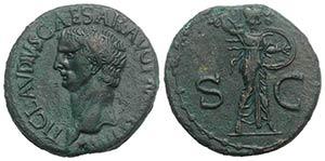 Claudius (41-54). Æ As (27mm, 11.38g, 6h). ...