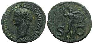 Claudius (41-54). Æ As (30mm, 8.94g, 6h). ...
