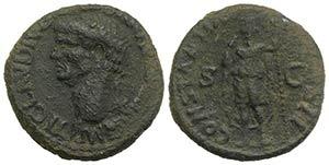 Claudius (41-54). Æ As (27mm, 11.90g, 6h). ...