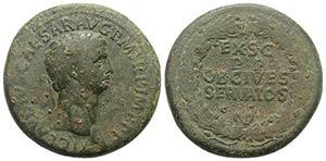 Claudius (41-54). Æ Sestertius (36mm, ...