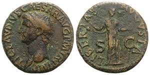 Claudius (41-54). Æ As (27mm, 10.74g, 6h). ...
