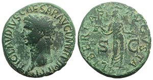 Claudius (41-54). Æ As (29mm, 12.47g, 6h). ...