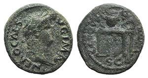 Nero(54-68). Æ Semis (17mm, 3.59g, 6h). ...