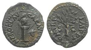 Nero (54-68). Æ Quadrans (14mm, 1.78g, 6h). ...