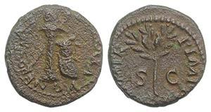 Nero (54-68). Æ Quadrans (13mm, 1.93g, 6h). ...