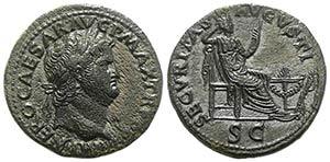 Nero (54-68). Æ Dupondius (28mm, 14.02g, ...