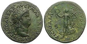Nero (54-68). Æ Dupondius (29mm, 11.71g, ...