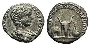 Caracalla (Caesar, 196-198). AR Denarius ...
