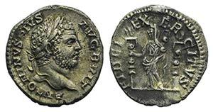 Caracalla (198-217). AR Denarius (17mm, ...