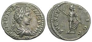 Caracalla (198-217). AR Denarius (19mm, ...