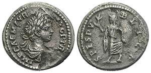 Caracalla (198-217). Fourrèe Denarius ...