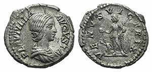 Plautilla (Augusta, 202-205). AR Denarius ...