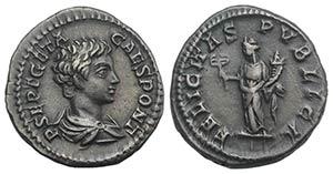 Geta (Caesar, 198-209). AR Denarius (18mm, ...