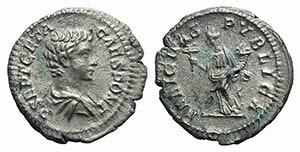 Geta (Caesar, 198-209). AR Denarius (19mm, ...