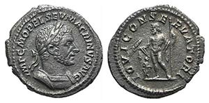 Macrinus (217-218). AR Denarius (19mm, ...