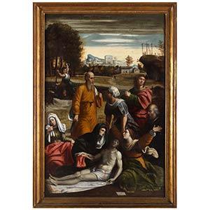 Pittore del XVII secoloCompianto su Cristo ...