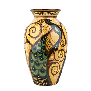 RODRIGUEZ - ROMEVase with peacocks and ...