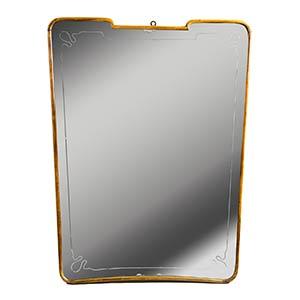 ITALIAN MANUFACTUREShaped mirrorWood and ...