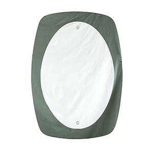 FONTANA ARTE (in style of)Oval mirror, ...