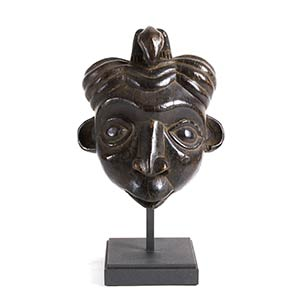 A WUM BAMUN WOODEN MASK FROM CAMEROON24 cm ...