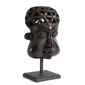 A BAMUN WOODEN MASK FROM CAMEROON57 cm high