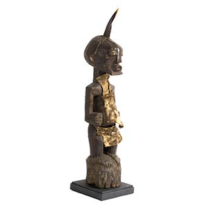 A SONGYE WOODEN STANDING POWER FIGURE FROM ...