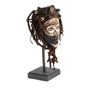 A BAKONGO WOODEN MASK FROM DEMOCRATIC ...