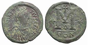 Anastasius I (491-518). Æ 40 Nummi (34mm, ...