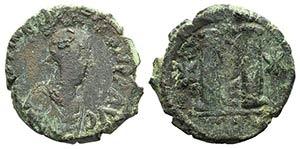 Justin I (518-527). Æ 40 Nummi (32mm, ...