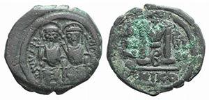 Justin II (565-578). Æ 40 Nummi (31mm, ...