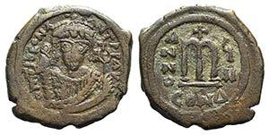 Tiberius II Constantine (578-582). Æ 40 ...