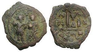 Heraclius (610-641). Æ 40 Nummi (33mm, ...