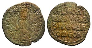Leo VI (886-912). Æ 40 Nummi (27mm, 5.55g, ...