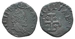 Italy, Napoli. Filippo II (1554-1598). Æ ...