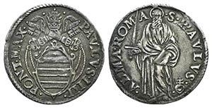 Italy, Papal, Paolo IV (1555-1559). AR ...