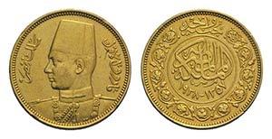 Egypt, Farouk (1937-1953). AV 100 Piastres ...
