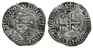 France, Louis XI (1461-1483). BI Blanc à la ...