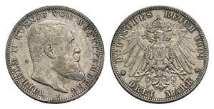 Germany, Wurttemberg. Wilhelm II ...
