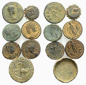 Mixed lot of 7 coins, including Greek (2), ...