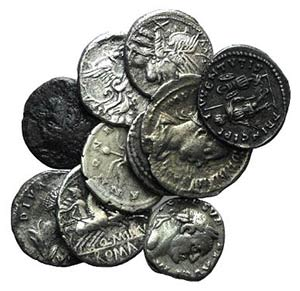 Lot of 10 Roman Republican (5) and Imperial ...