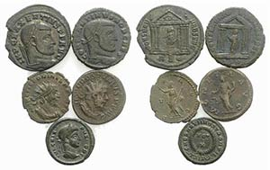 Lot of 5 Roman Imperial coins, including ...